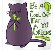Green Kitty! Poster