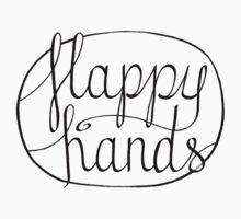 FLAPPY HANDS are HAPPY HANDS - Black Kids Tee