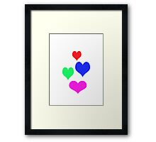 Four hearts for you and me Framed Print