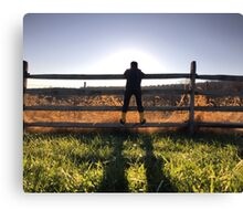 A Boy and the Fence Canvas Print