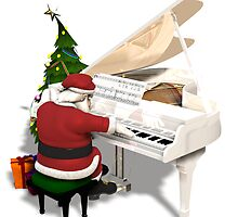 Santa Claus Piano Player by Mythos57