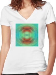 Qi - Energy Art By Sharon Cummings Women's Fitted V-Neck T-Shirt