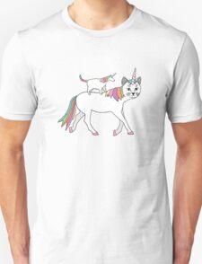 Cat and Unicorn Unisex T-Shirt