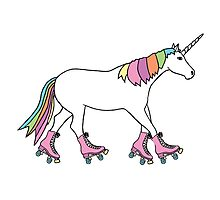 Rollerskater Unicorn Photographic Print