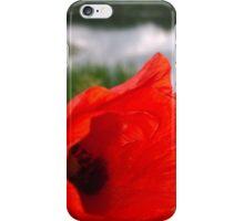Poppy on river iPhone Case/Skin