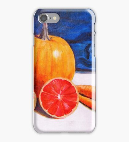 Pumpkin, Grapefruit, Carrots iPhone Case/Skin