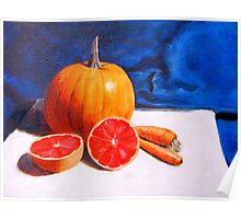 Pumpkin, Grapefruit, Carrots Poster
