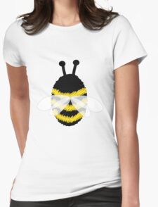 Bumble bee on blue... Womens Fitted T-Shirt