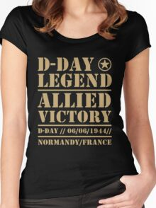 D Day Legend Allied Victory Normandy France Women's Fitted Scoop T-Shirt