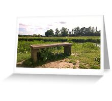 Bench on norfolk river Greeting Card