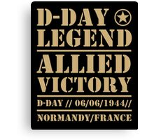 D Day Legend Allied Victory Normandy France Canvas Print