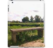 Bench on norfolk river iPad Case/Skin