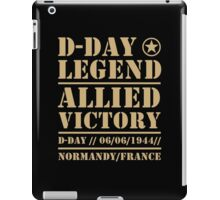 D Day Legend Allied Victory Normandy France iPad Case/Skin