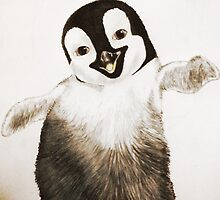 Happy Feet Penguin by DonGreenwood