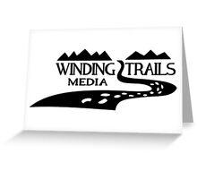 Winding Trails Media Black Logo Greeting Card