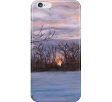 Sunset Over Pembina River iPhone Case/Skin