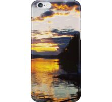 Sunset over River iPhone Case/Skin