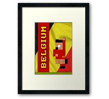 World Cup 2014 - Belgium Framed Print
