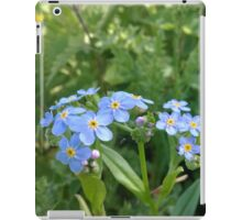 Blue flower norfolk river iPad Case/Skin