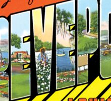 Shreveport Louisiana Vintage Souvenir Greeting Post Card Sticker