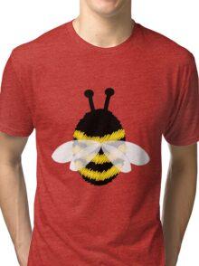 Bumble Bee on Orange. Tri-blend T-Shirt