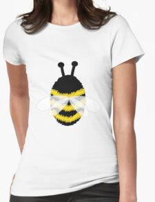 Bumble Bee on Orange. Womens Fitted T-Shirt