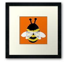 Bumble Bee on Orange. Framed Print