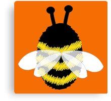 Bumble Bee on Orange. Canvas Print