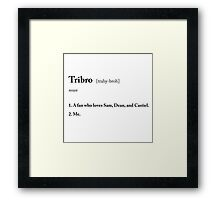TRIBRO definition Framed Print