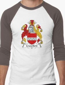 Crawford Coat of Arms / Crawford Family Crest Men's Baseball ¾ T-Shirt
