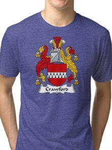 Crawford Coat of Arms / Crawford Family Crest Tri-blend T-Shirt