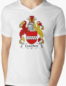 Crawford Coat of Arms / Crawford Family Crest Mens V-Neck T-Shirt