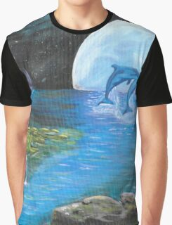 Moon Light Swim Graphic T-Shirt
