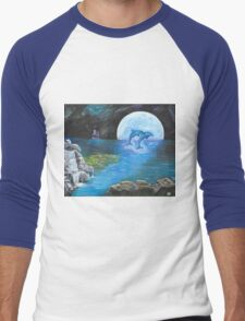 Moon Light Swim Men's Baseball ¾ T-Shirt