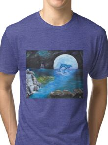 Moon Light Swim Tri-blend T-Shirt