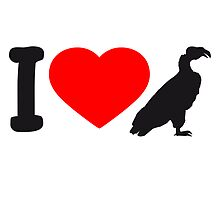 Herz Liebe I Love Vultures Design by Style-O-Mat