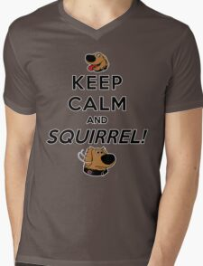Keep Calm and SQUIRREL Mens V-Neck T-Shirt