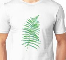 Watercolor Fern Leaves Unisex T-Shirt