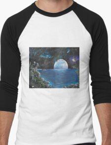 Moon light Island Men's Baseball ¾ T-Shirt