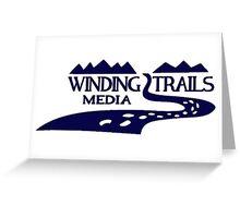Winding Trails Media Blue Logo Greeting Card