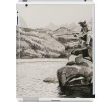 Mick Fishing at Bishop, CA iPad Case/Skin