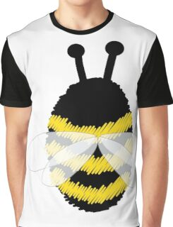 Bumble Bee on white Graphic T-Shirt