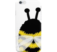 Bumble Bee on white iPhone Case/Skin
