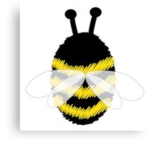 Bumble Bee on white Canvas Print