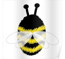 Bumble Bee on white Poster