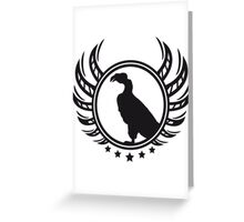 Vulture coat of arms logo Greeting Card