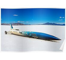 The Blue Flame at Bonneville Poster