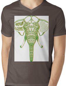 Psychedelic Elephant Mens V-Neck T-Shirt