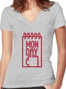 Dear Monday... F**k You ! Women's Fitted V-Neck T-Shirt