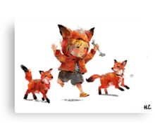 Foxes Canvas Print